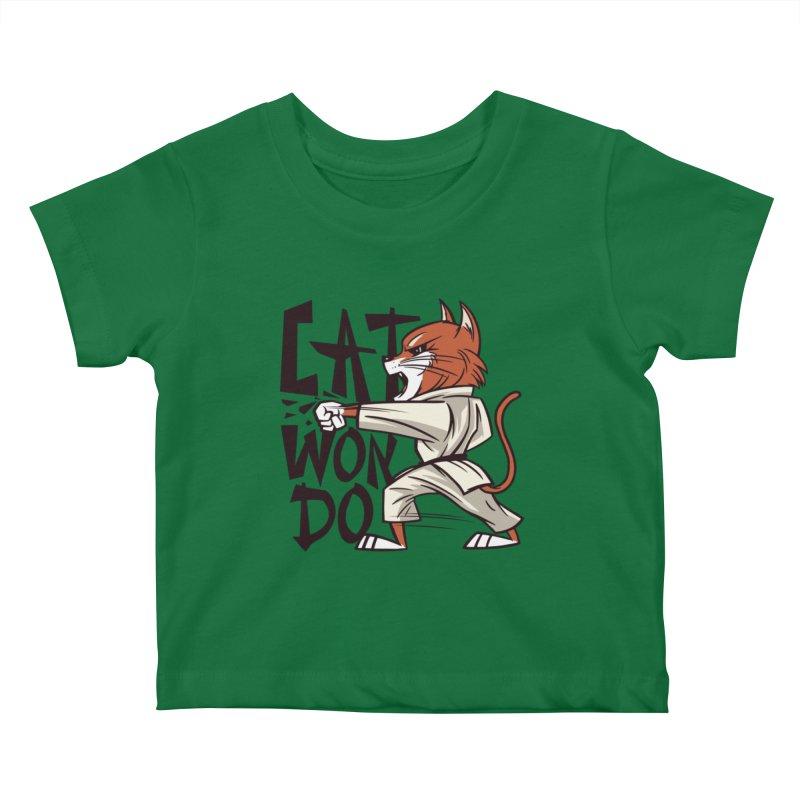 Cat Won Do Kids Baby T-Shirt by Purrform