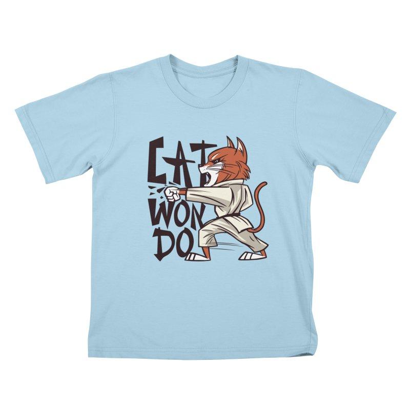 Cat Won Do Kids T-Shirt by Purrform