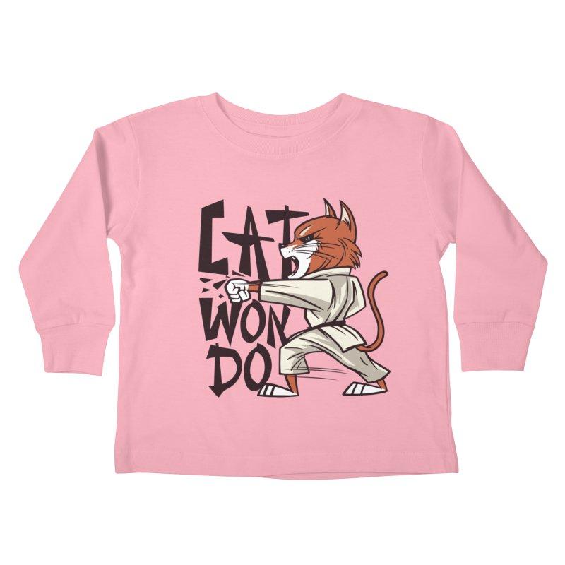 Cat Won Do Kids Toddler Longsleeve T-Shirt by Purrform