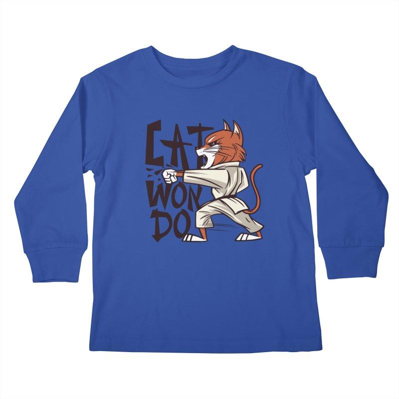 Cat Won Do Kids Longsleeve T-Shirt by Purrform