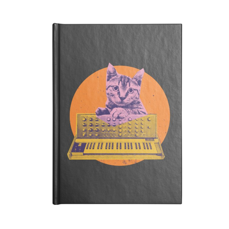 Synthesizer Cat Accessories Notebook by Purrform