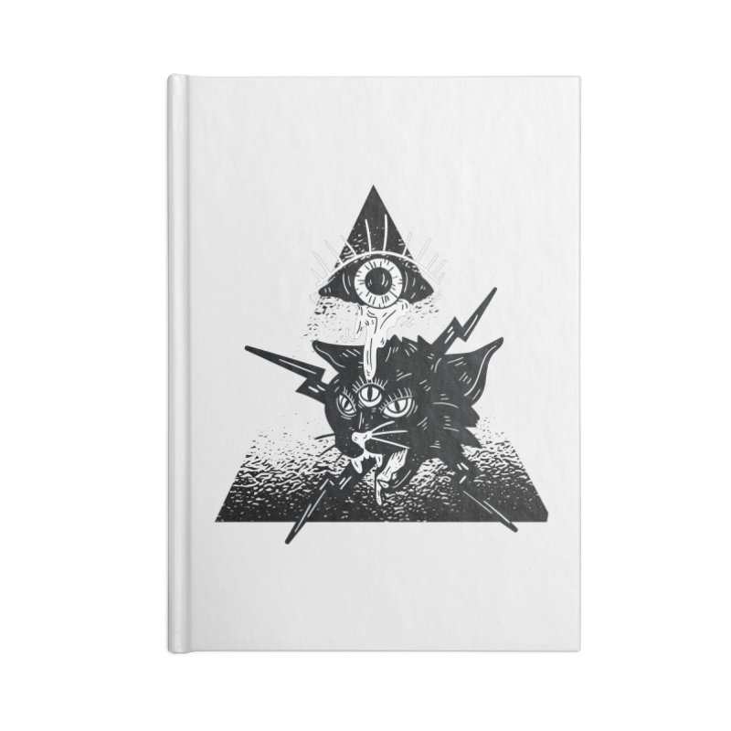 The All Seeing Cat Accessories Notebook by Purrform