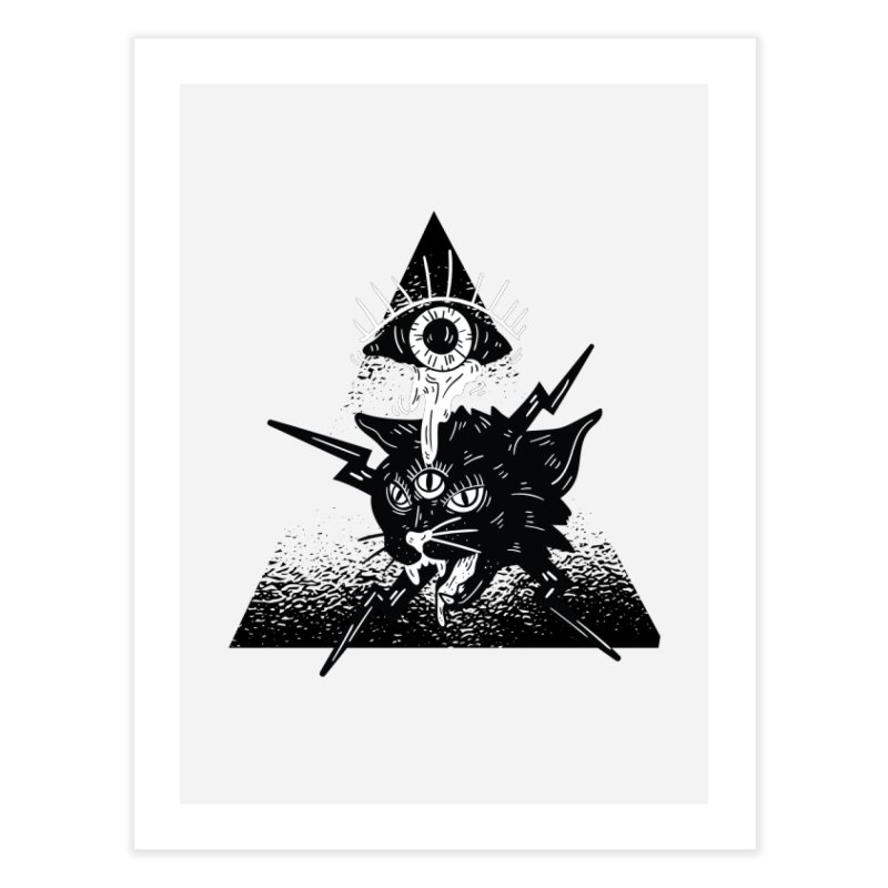 The All Seeing Cat Home Decor Fine Art Print by Purrform