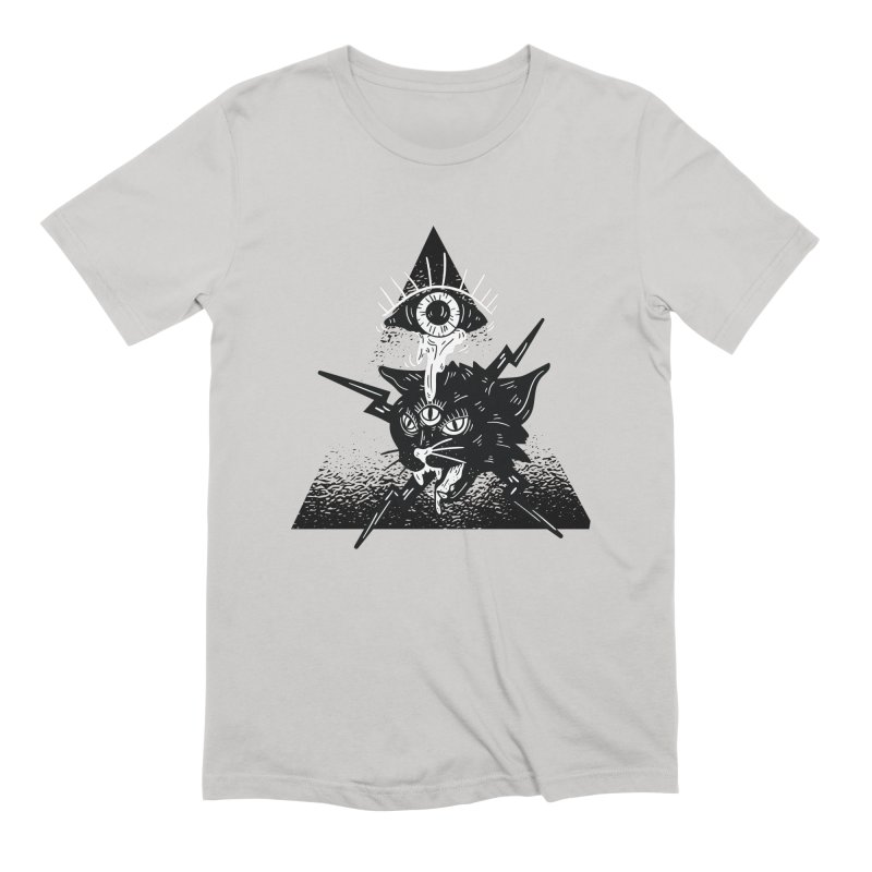 The All Seeing Cat Men's T-Shirt by Purrform