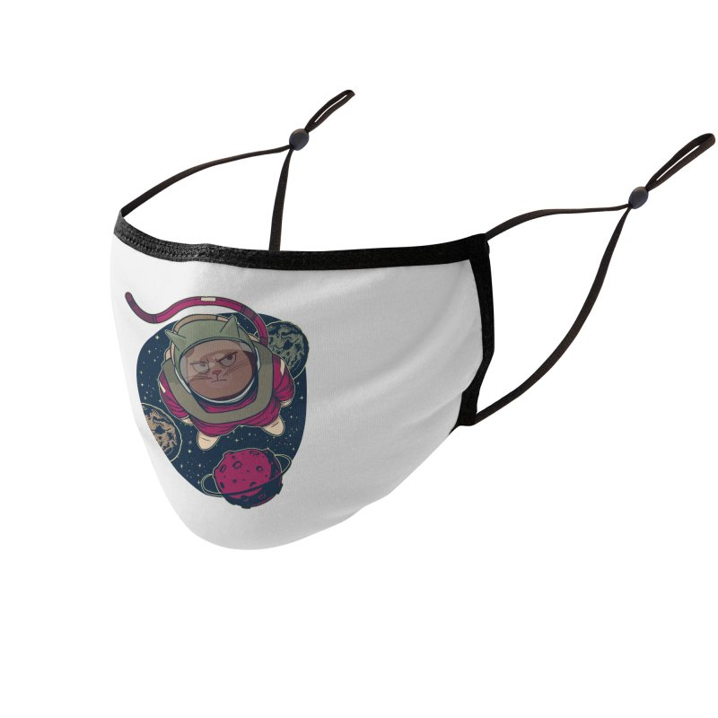Astronaut Cat Accessories Face Mask by Purrform