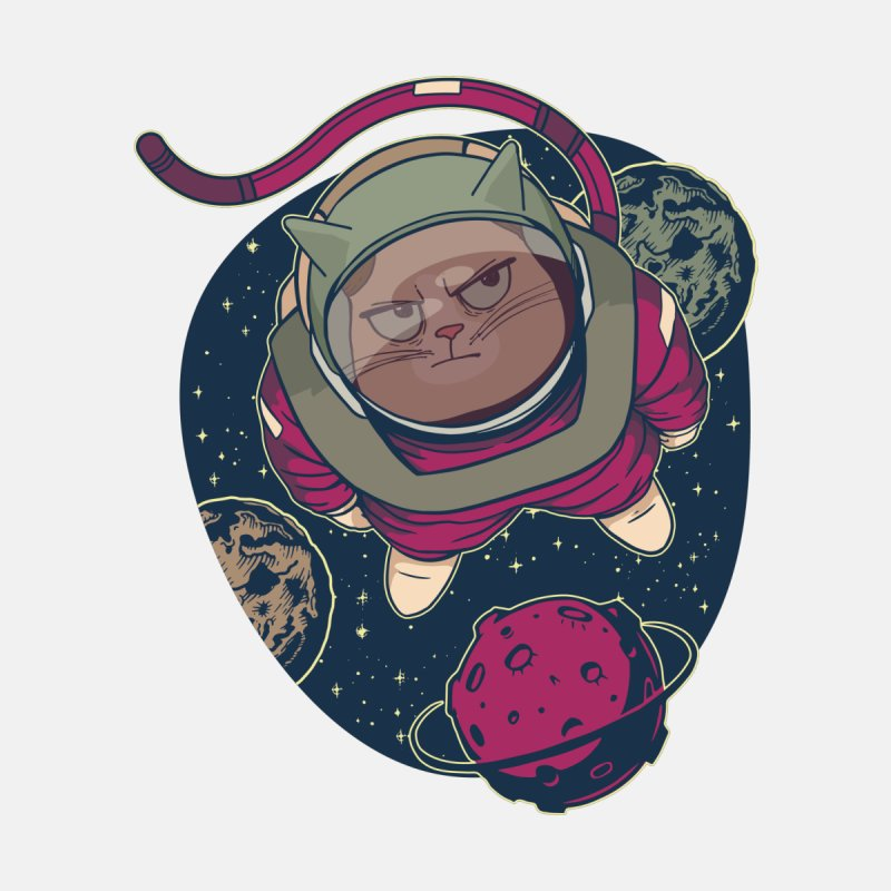 Astronaut Cat Men's T-Shirt by Purrform