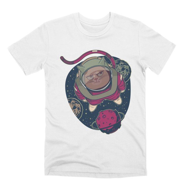 Astronaut Cat Men's T-Shirt by Purrform
