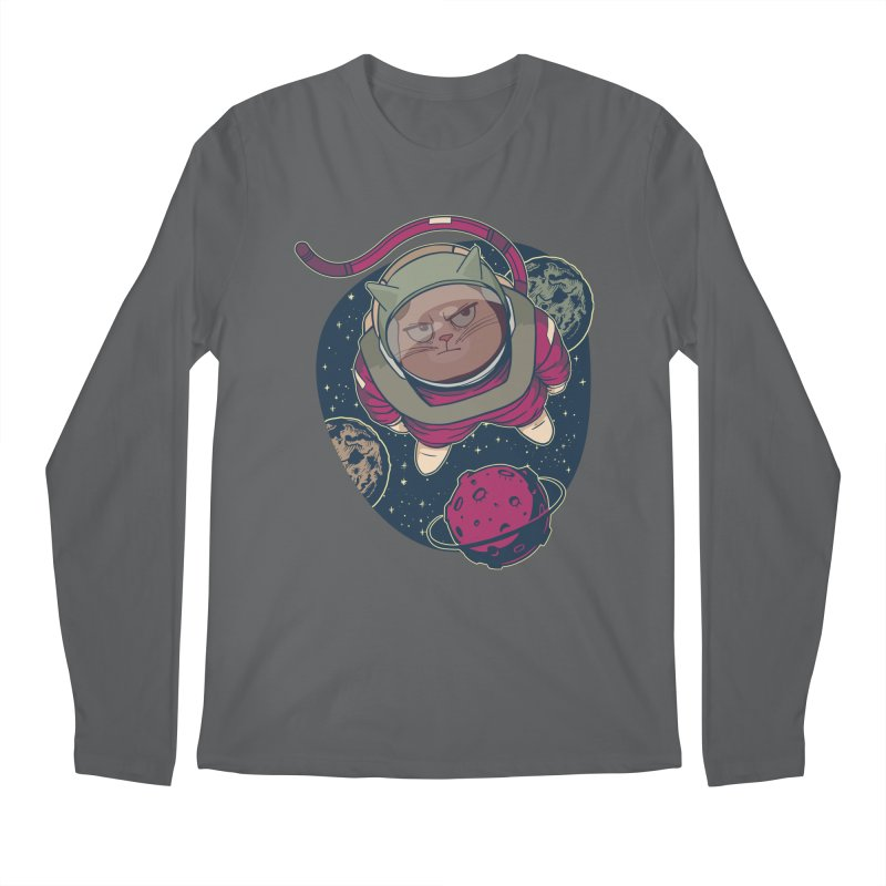Astronaut Cat Men's Longsleeve T-Shirt by Purrform