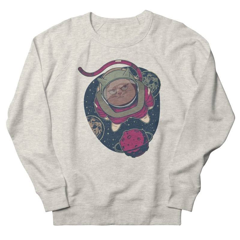 Astronaut Cat Men's Sweatshirt by Purrform