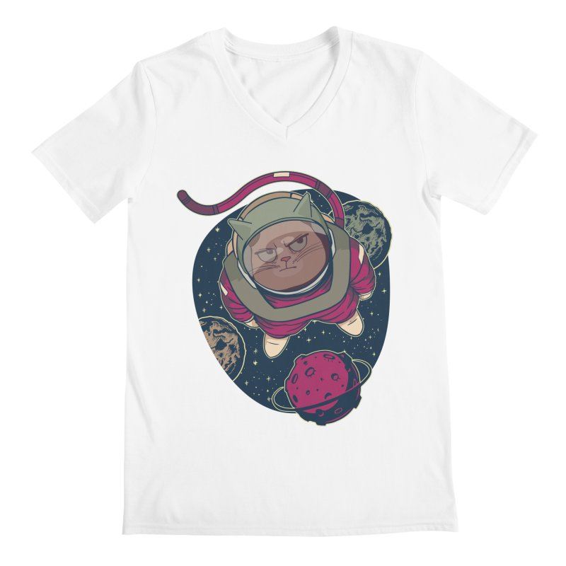 Astronaut Cat Men's V-Neck by Purrform