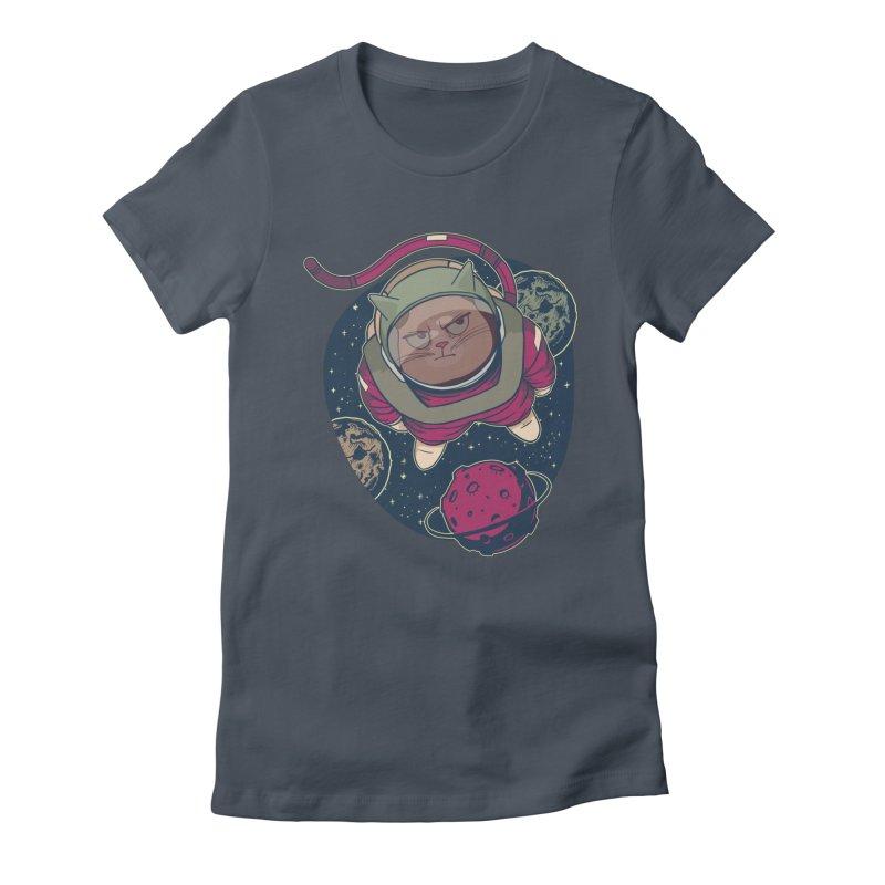 Astronaut Cat Women's T-Shirt by Purrform
