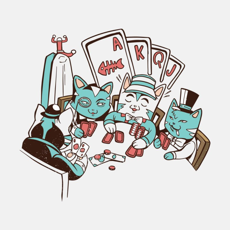 Poker Cats Accessories Button by Purrform