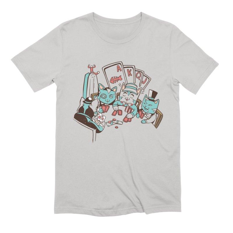 Poker Cats Men's T-Shirt by Purrform