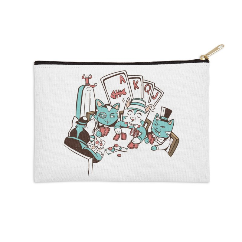 Poker Cats Accessories Zip Pouch by Purrform