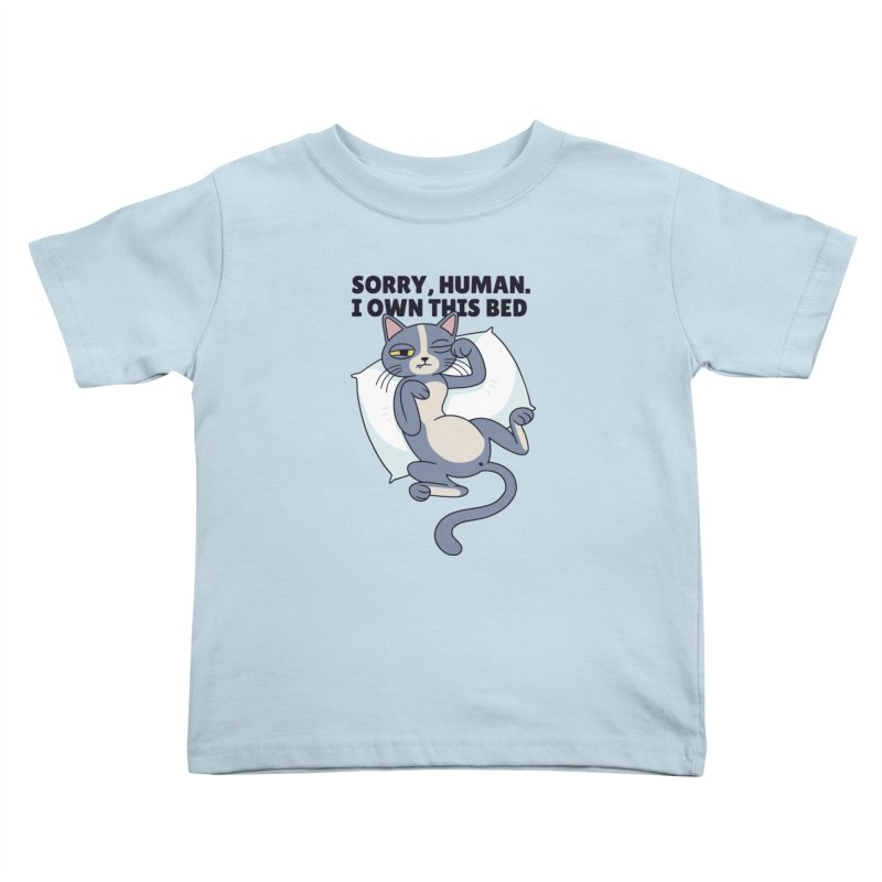 Sleepy Cat Kids Toddler T-Shirt by Purrform