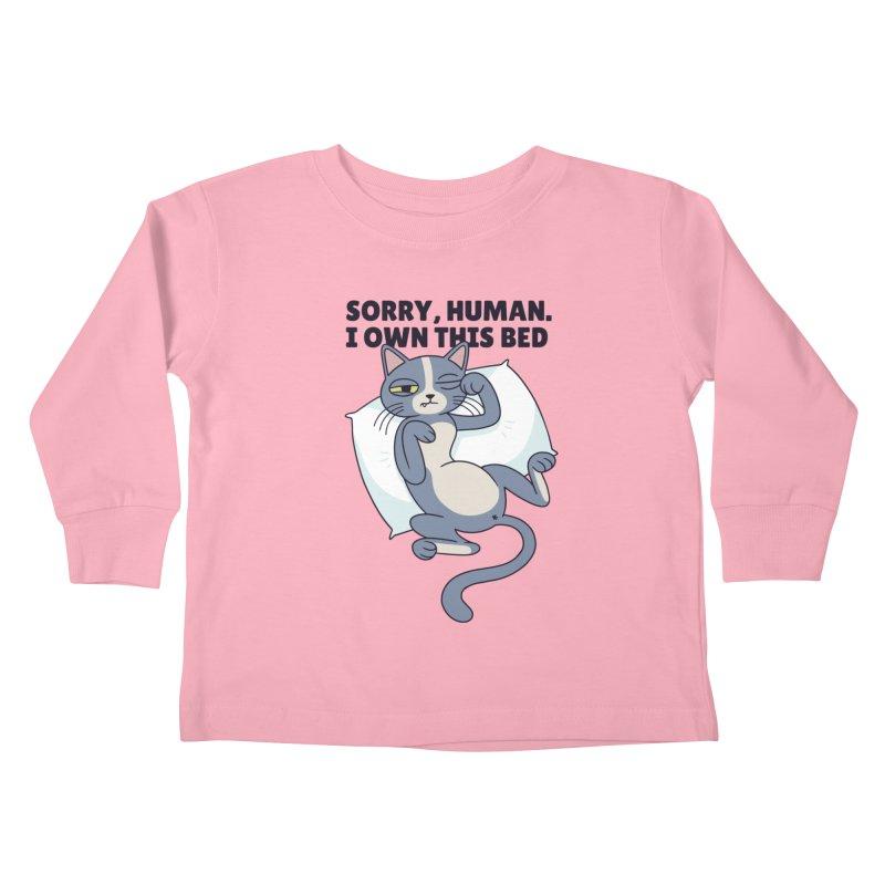 Sleepy Cat Kids Toddler Longsleeve T-Shirt by Purrform