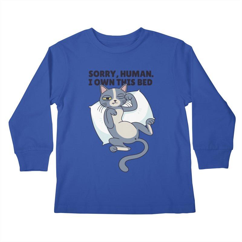 Sleepy Cat Kids Longsleeve T-Shirt by Purrform