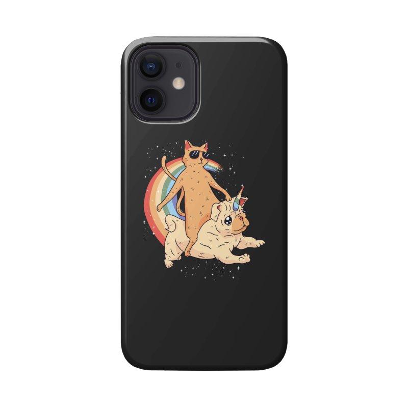 Cat Riding a Bulldog Unicorn Accessories Phone Case by Purrform
