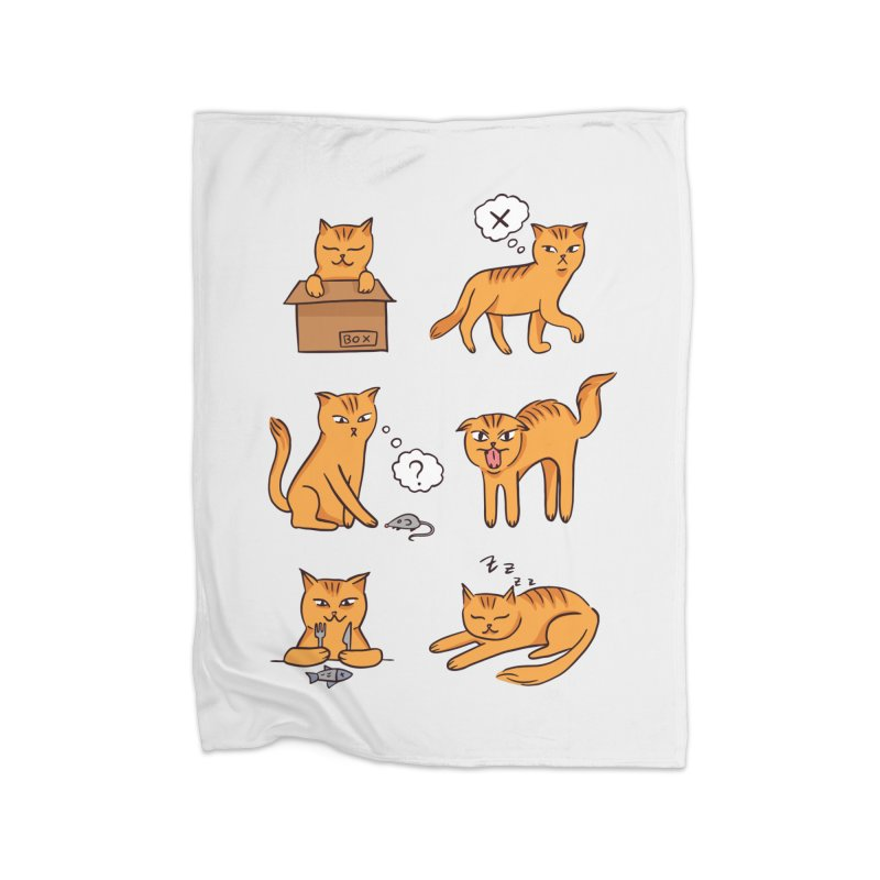 Cat Moods Home Blanket by Purrform