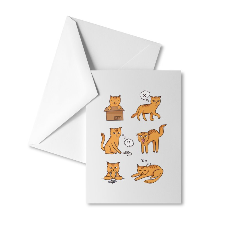 Cat Moods Accessories Greeting Card by Purrform