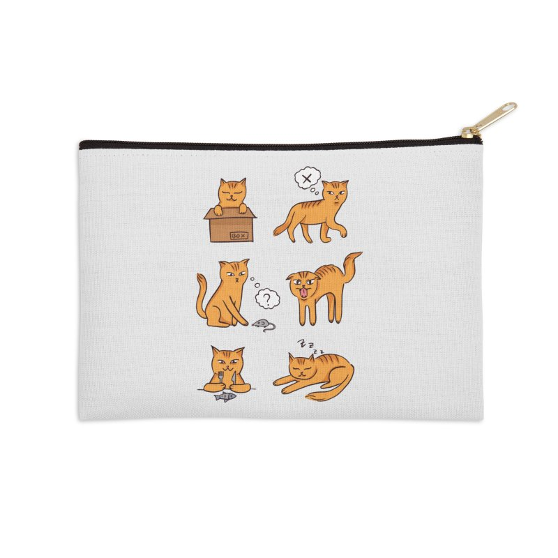 Cat Moods Accessories Zip Pouch by Purrform
