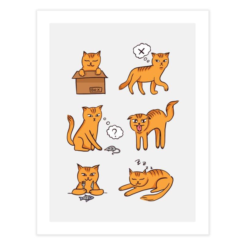 Cat Moods Home Fine Art Print by Purrform