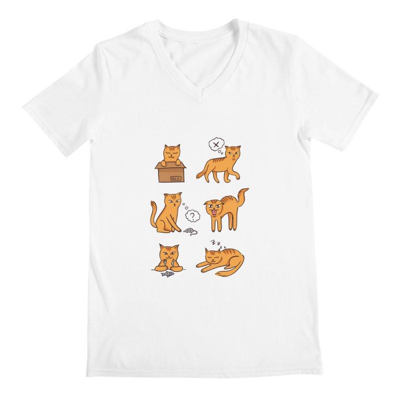 Cat Moods Men's V-Neck by Purrform