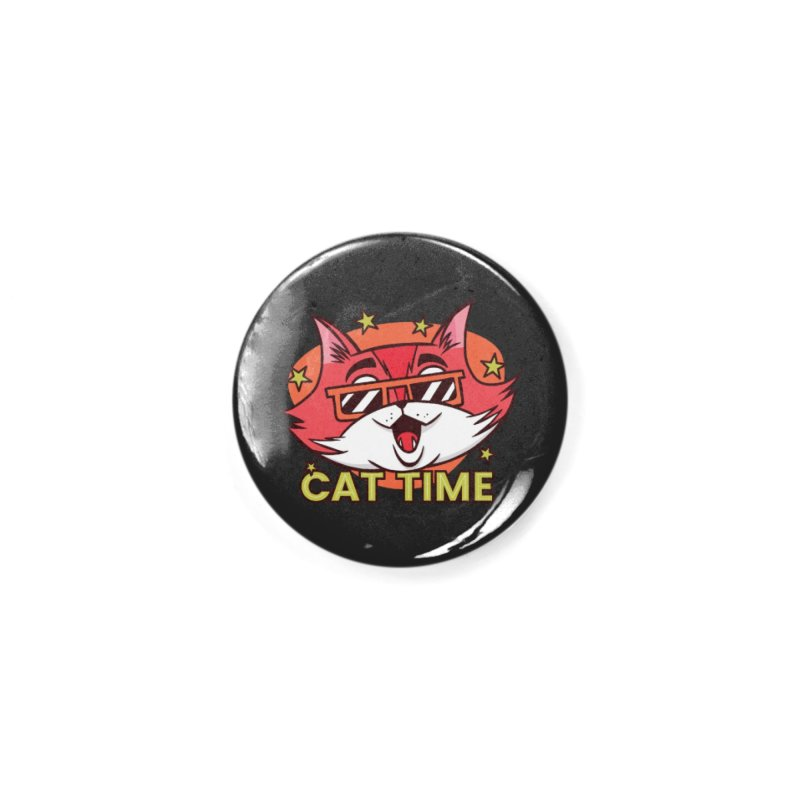 Cat Time Accessories Button by Purrform