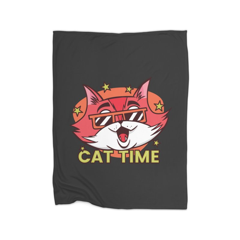 Cat Time Home Blanket by Purrform