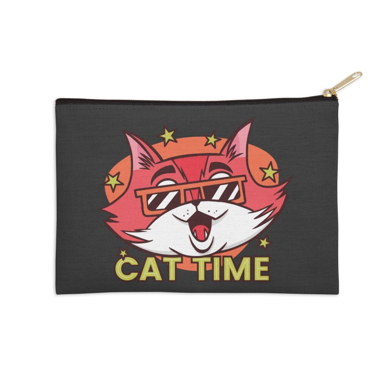 Cat Time Accessories Zip Pouch by Purrform