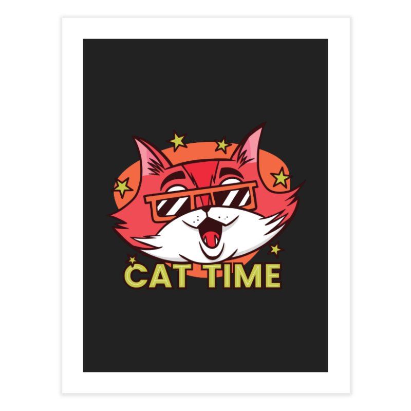 Cat Time Home Fine Art Print by Purrform
