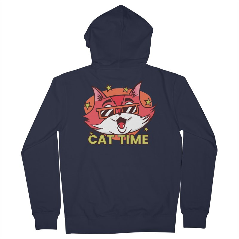 Cat Time Women's Zip-Up Hoody by Purrform