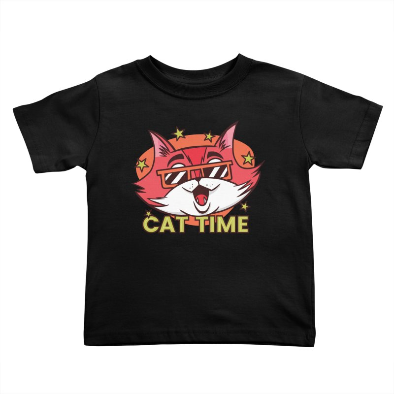 Cat Time Kids Toddler T-Shirt by Purrform