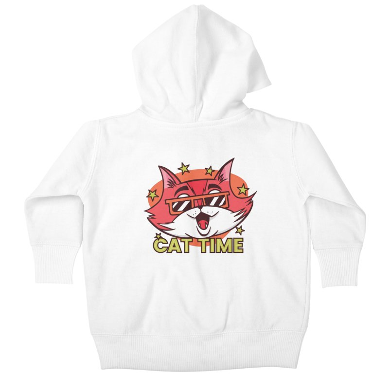 Cat Time Kids Baby Zip-Up Hoody by Purrform