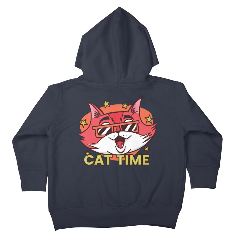 Cat Time Kids Toddler Zip-Up Hoody by Purrform