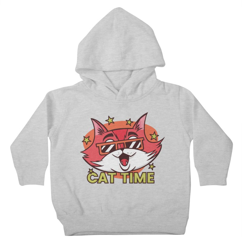Cat Time Kids Toddler Pullover Hoody by Purrform