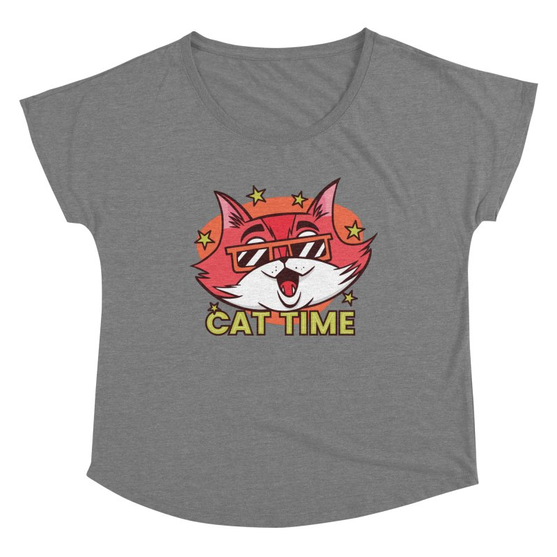 Cat Time Women's Scoop Neck by Purrform