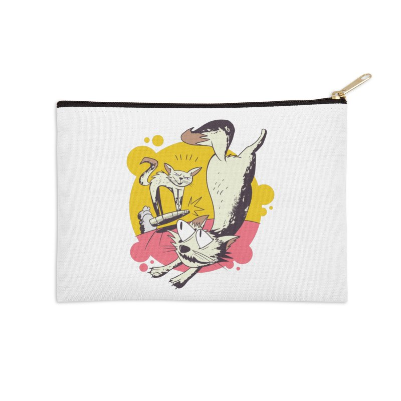 Vacuum Cat Attack Accessories Zip Pouch by Purrform