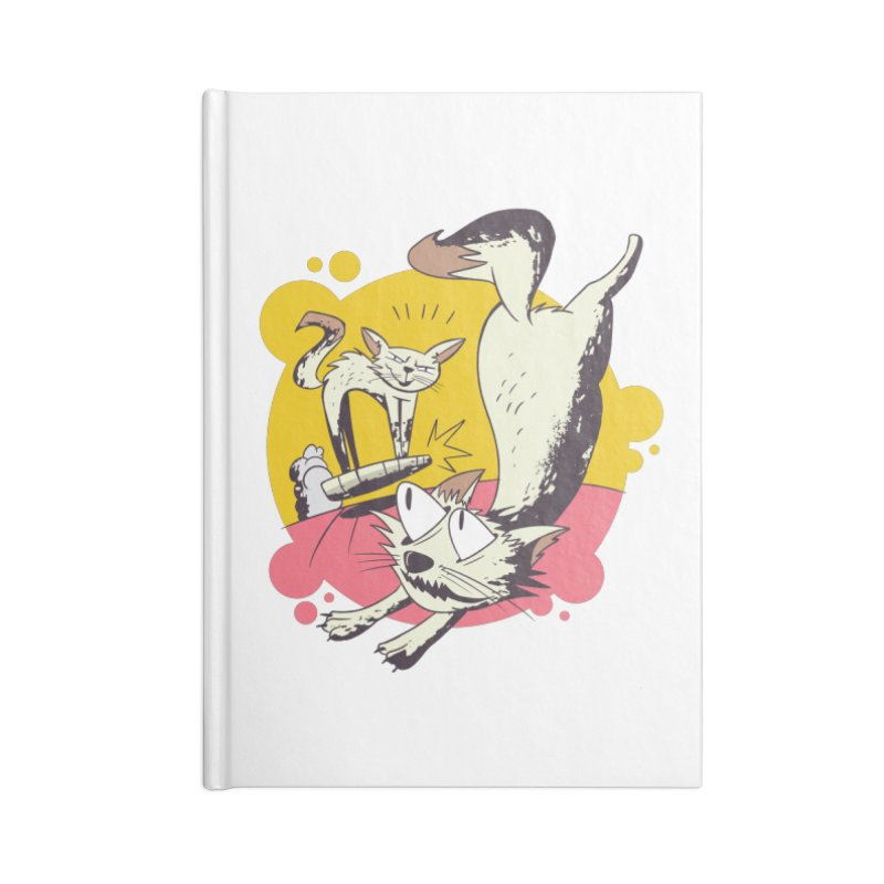 Vacuum Cat Attack Accessories Notebook by Purrform