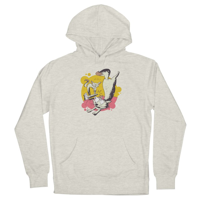 Vacuum Cat Attack Men's Pullover Hoody by Purrform