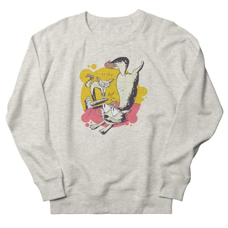 Vacuum Cat Attack Men's Sweatshirt by Purrform