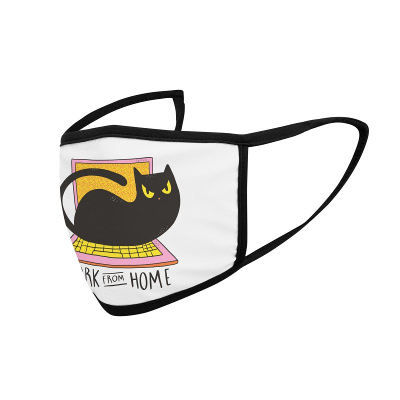 Work From Home Cat Accessories Face Mask by Purrform