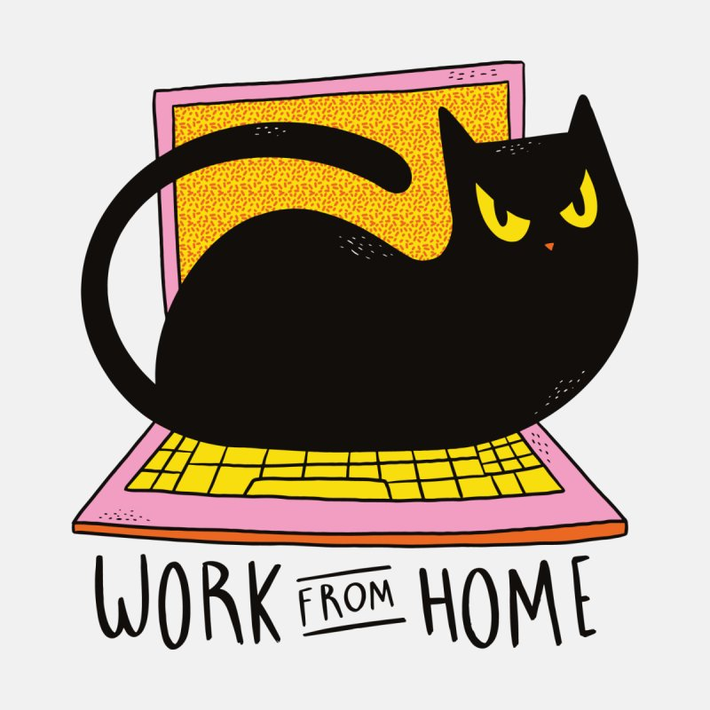 Work From Home Cat Women's Scoop Neck by Purrform