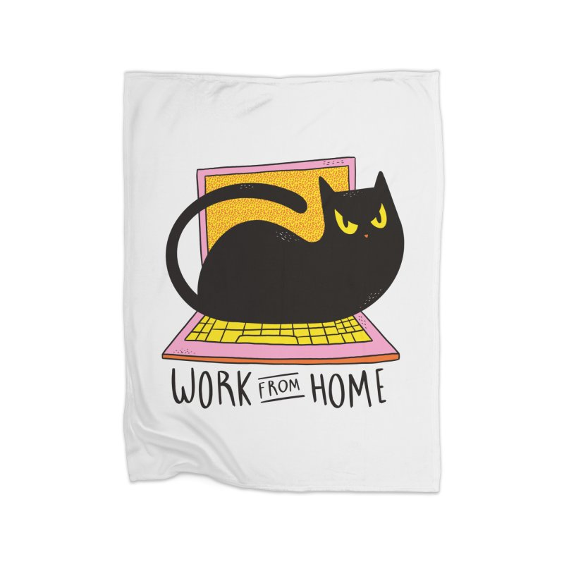 Work From Home Cat Home Blanket by Purrform