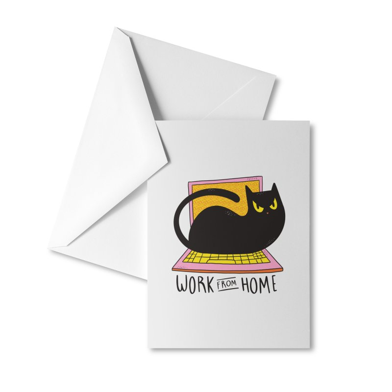 Work From Home Cat Accessories Greeting Card by Purrform
