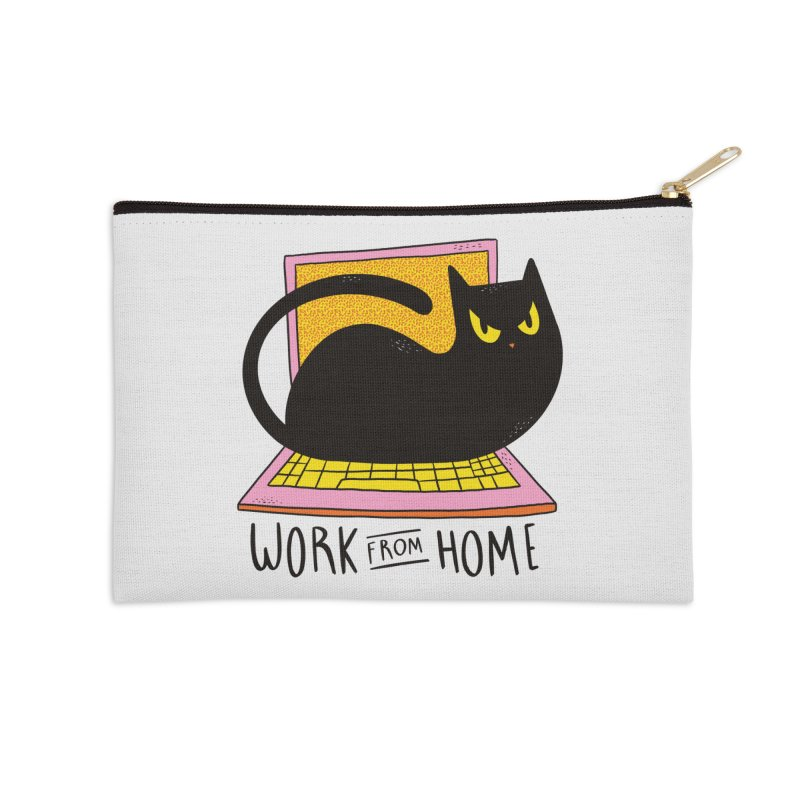 Work From Home Cat Accessories Zip Pouch by Purrform
