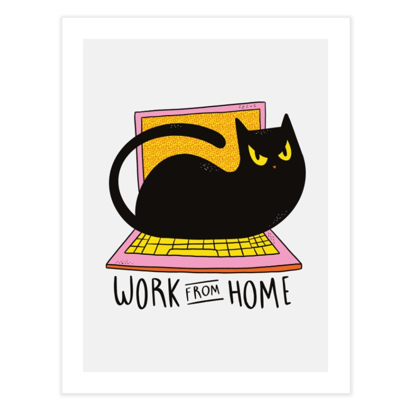 Work From Home Cat Home Fine Art Print by Purrform