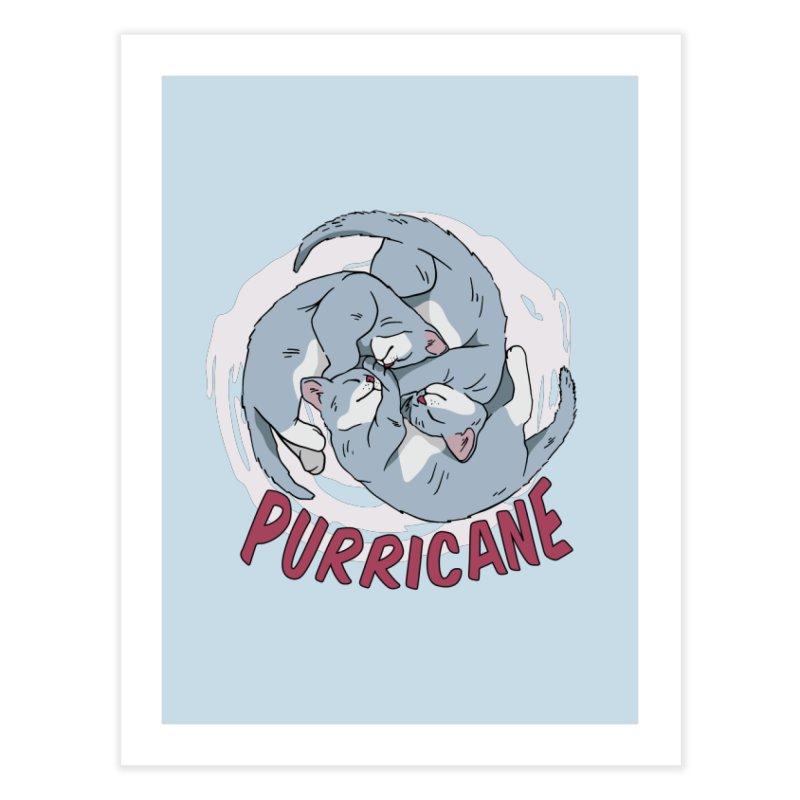 PURRicane Home Fine Art Print by Purrform