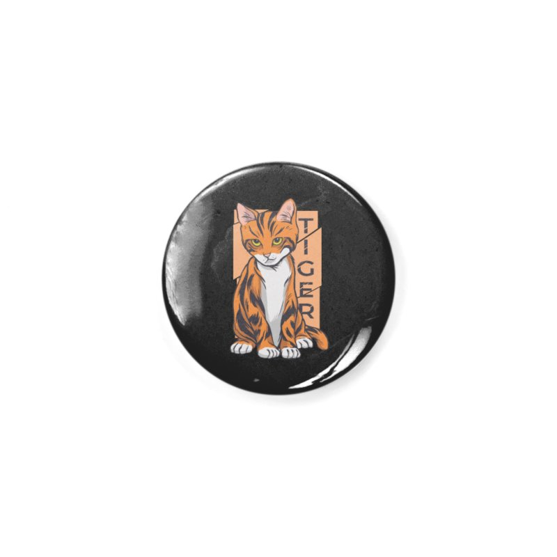 Tiger Cat Accessories Button by Purrform