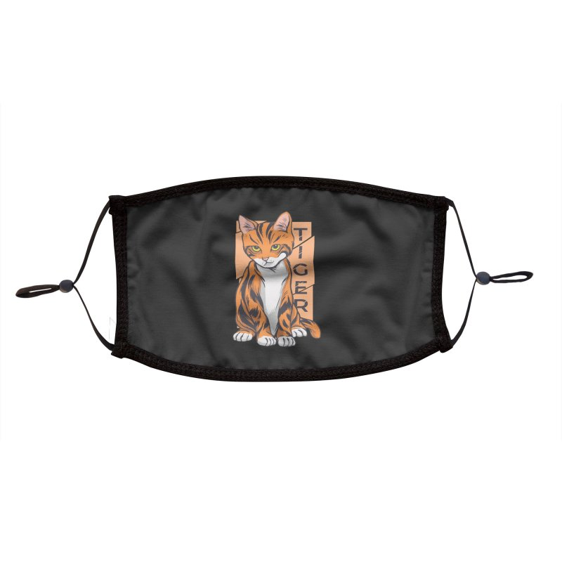 Tiger Cat Accessories Face Mask by Purrform